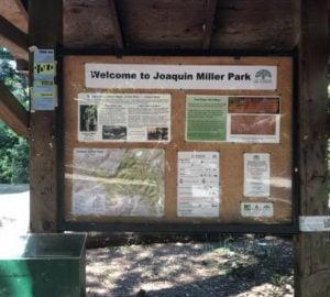 Ranger Station kiosk at Joaquin Miller Park.