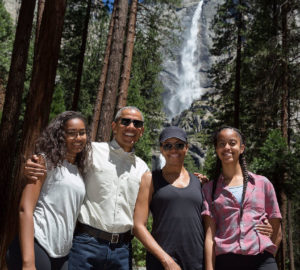 The Obama family at Yosemite National Park, Father's Day 2016. White House photo.