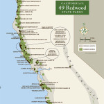 Map of 49 Redwood State Parks