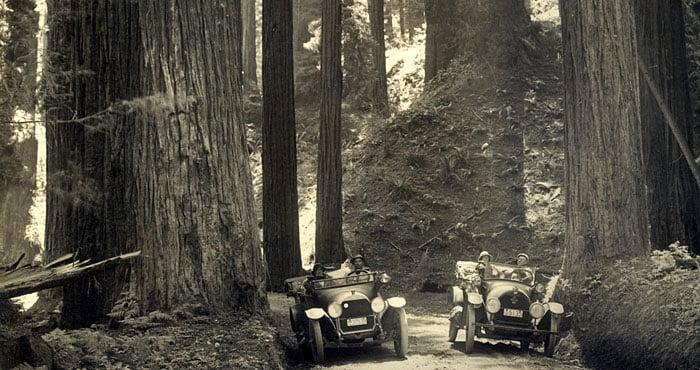 Tibbitts Redwood Highway before 1918