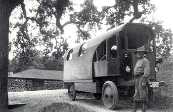 Kellogg and his Travel Log. Photo credit: Humboldt Redwoods Interpretive Association