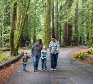 The Diaz family of San Jose visiting Samuel P. Taylor State Park