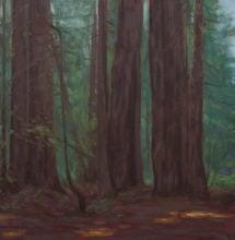 Oil painting from Roy's Redwoods Open Space Preserve by Brandon Schaefer, http://www.Brandon-Schaefer.com.