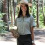 Interpretive specialist Jenny Comperda at Calaveras Big Trees State Park. Photo courtesy of California State Parks.