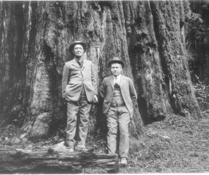 U.S. Congressman William Kent (left) and Stephen T. Mather, the first director of the National Park Service, were initial donors to Save the Redwoods League.
