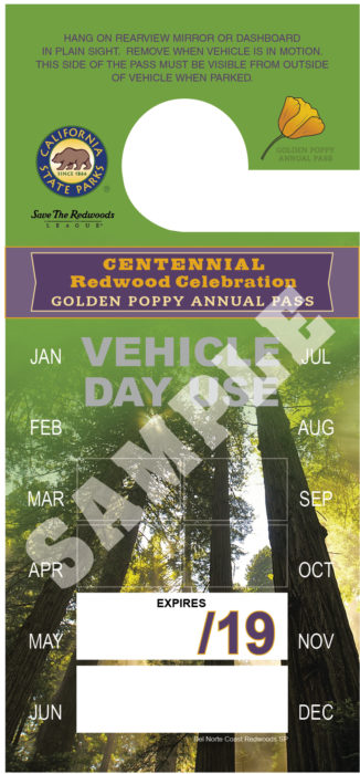 Centennial Redwood Celebration Golden Poppy Annual Pass