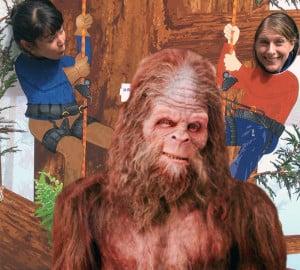 Regan and Jess...and Bigfoot?