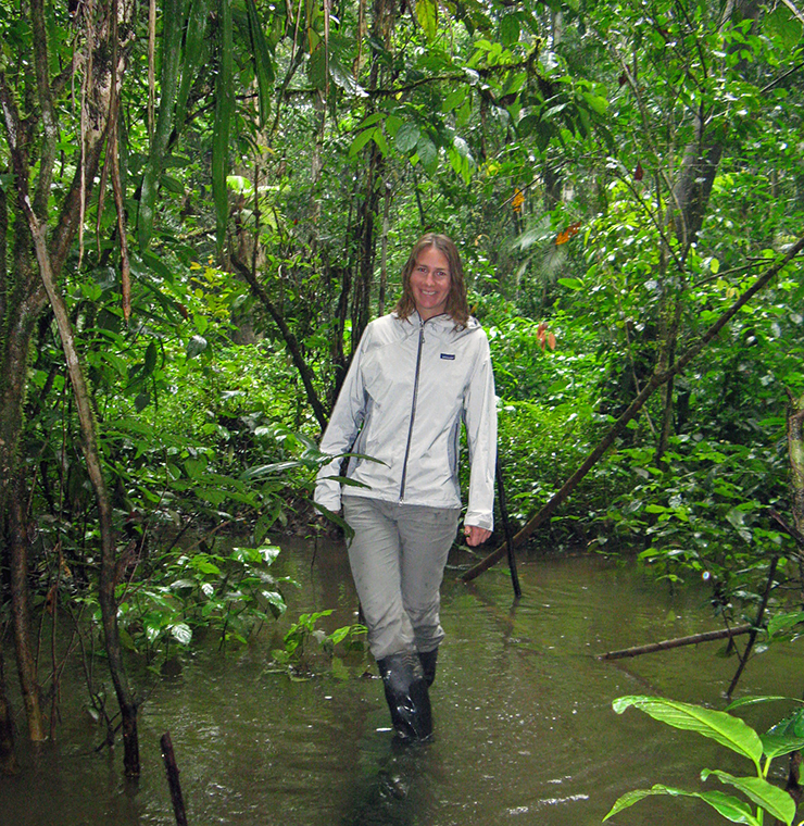 Deborah Zierten, Education & Interpretation Manager, in the Ecuadorian rainforest.