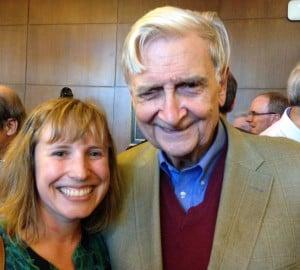 With my conservation hero, Professor E.O. Wilson.