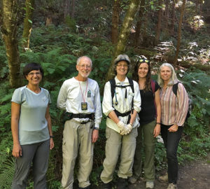 Fern Watch volunteers at Purisima Creek Redwoods Preserve.