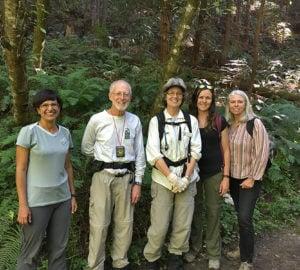Fern Watch volunteers at Purisima Creek Redwoods Preserve.