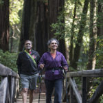 Lola Kashyap of Cupertino enjoys Redwoods Friday in Big Basin Redwoods State Park. Photo by Paolo Vescia