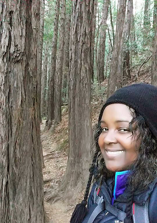 Teresa Baker at Muir Woods National Monument.